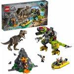 Lego Jurassic World lupta T.Rex contra Dinomech