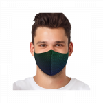 Masca textila reutilizabila cu buzunar Elegant Swirls
