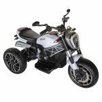 Motocicleta electrica copii cu acumulator, muzica si lumini alb/negru