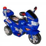 Motocicleta electrica copii cu baterie, muzica si girofar albastru