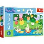Puzzle Trefl Peppa Pig disctractie in vacanta 60 piese