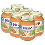 Pachet Meniu HIPP Pui cu orez si legume 125 g de la 4 luni  6 buc
