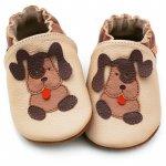 Pantofi cu talpa moale Liliputi Beige Doggies S 11,3 cm