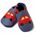 Pantofi cu talpa moale Liliputi Blue Cars V8 S 11,3 cm
