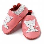 Pantofi cu talpa moale Liliputi Pink Pussycat XXL 16 cm