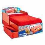 Pat Worlds Apart Mdf Disney Cars 140x70 cm cu spatiu depozitare