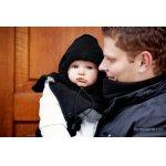Pieptar din polar mama+copil Lenny Lamb negru