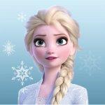 Prosop fata Frozen Elsa 30x30 cm SunCity