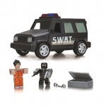 Masinuta cu functii si 2 figurine Roblox Jail Break Swat Unit