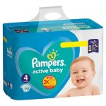 Scutece Pampers Active Baby Giant Pack+ Marimea 4 9 -14 kg, 90 buc