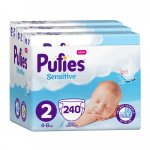 Scutece Pufies Sensitive 2 Mini Monthly Pack 4-8 kg 240 buc