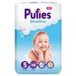 Scutece Pufies Sensitive 5 Junior Maxi Pack  11-16 kg 48 buc