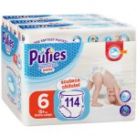 Scutece-chilotel Pufies Pants Sensitive Extra Large Marimea 6 ,15+ kg 114 buc