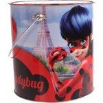 Set cadou pusculita metalica cu accesorii de colorat Miraculous Ladybug Canenco