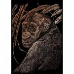 Set gravura pe folie aramie Maimuta