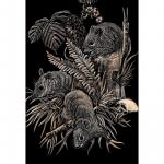 Set gravura pe folie aramie Soareci de camp