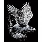 Set gravura pe folie argintie Grifon