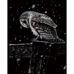 Set gravura pe folie argintie Ninsoare noaptea