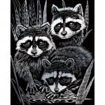Set gravura pe folie argintie Ratoni