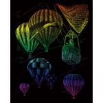 Set gravura pe folie curcubeu Baloane cu aer cald