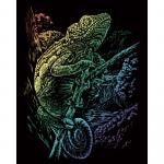 Set gravura pe folie curcubeu Cameleon