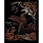 Set gravura pe folie din cupru Colibri