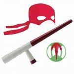 Testoasele Ninja joc de rol Raphael cu accesorii