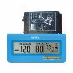Tensiometru electronic de brat Sanity Serce Plus 60 seturi de memorie, tehnologie FDS albastru