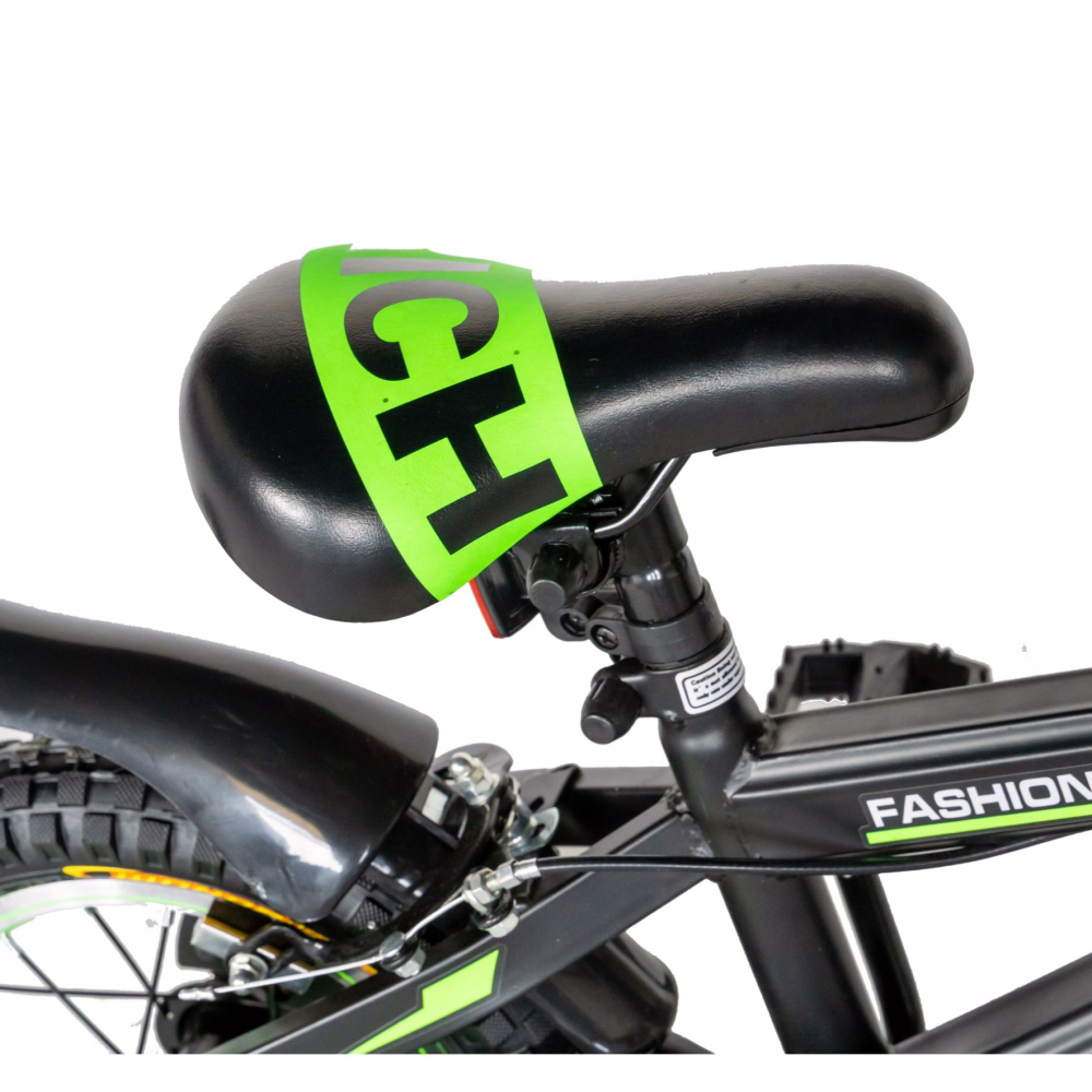Bicicleta baieti Rich Baby T1202C 12 inch C-Brake cu roti ajutatoare 2-4 ani negruverde