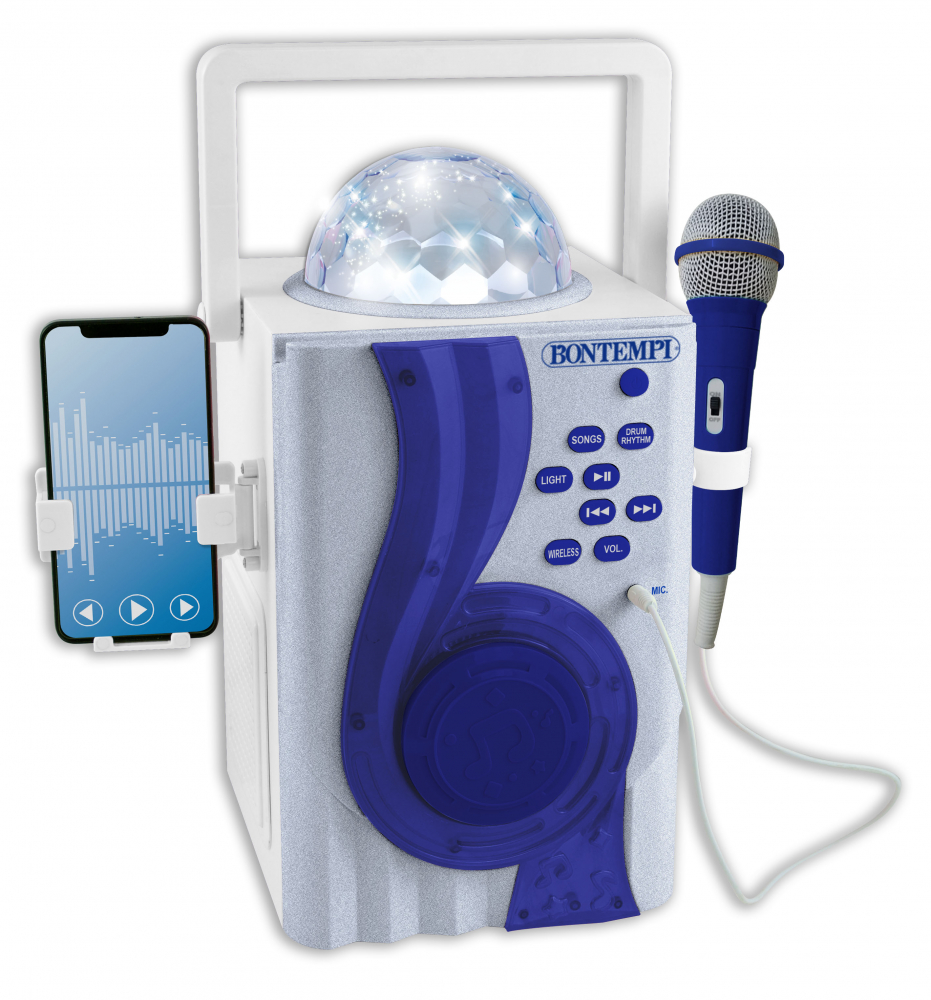 Boxa si microfon Wireless cu efecte luminoase Bontempi