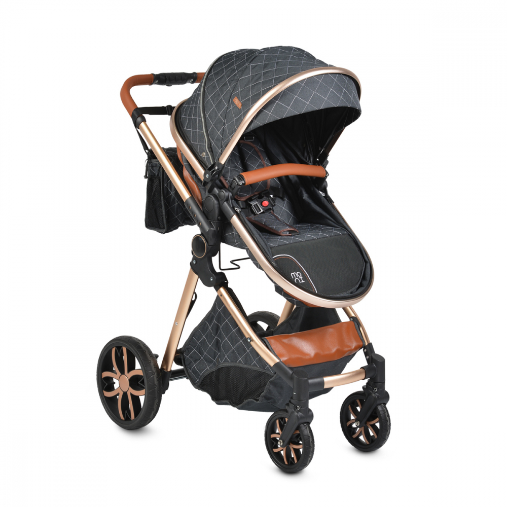 Carucior 2 in 1 transformabil Moni Alma Black imagine