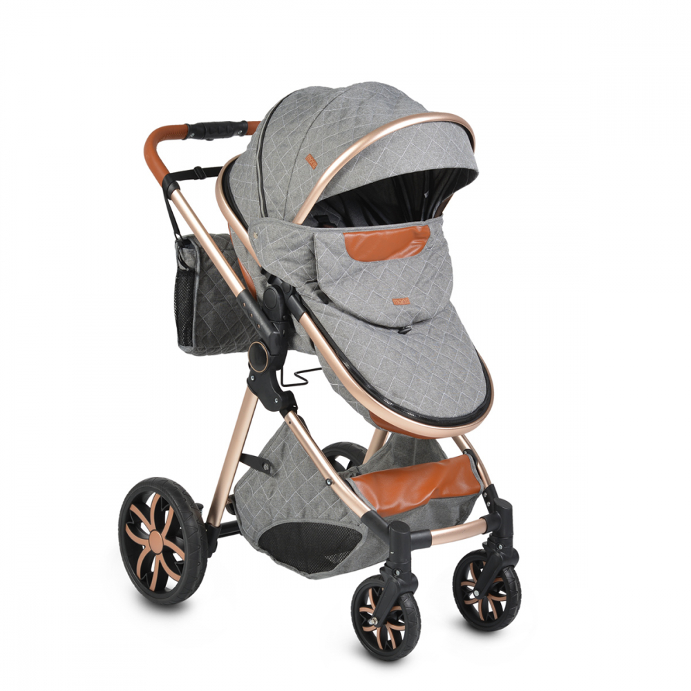 Carucior 2 in 1 transformabil Moni Alma Dark Grey imagine