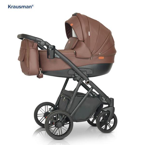 KRAUSMAN Carucior 3 in 1 Lexxo Brown