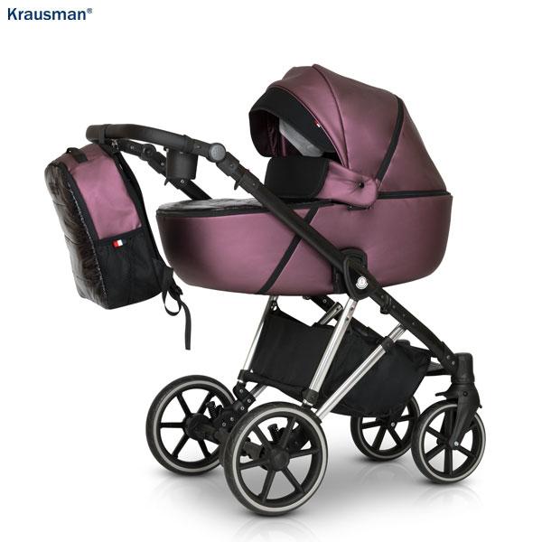 KRAUSMAN Carucior 3 in 1 Xplorer Purple Shiny
