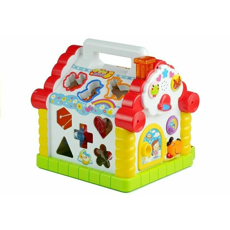 Casuta educativa Happy House cu sortator si pian Hola Toys