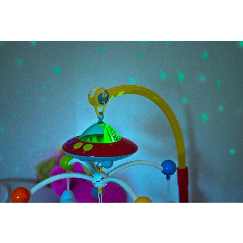 Carusel muzical pentru patut cu proiectii si 108 melodii Huanger Toys imagine