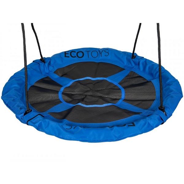 Leagan pentru copii Ecotoys BOC100 cuib de barza, cadru din otel galvanizat albastru imagine
