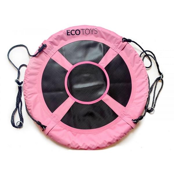 Leagan pentru copii Ecotoys SW100 cuib de barza roz