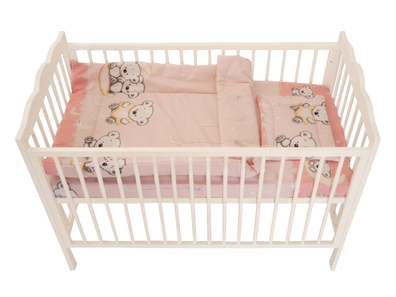 Lenjerie Bear On Moon Pink M1 4+1 piese 120x60