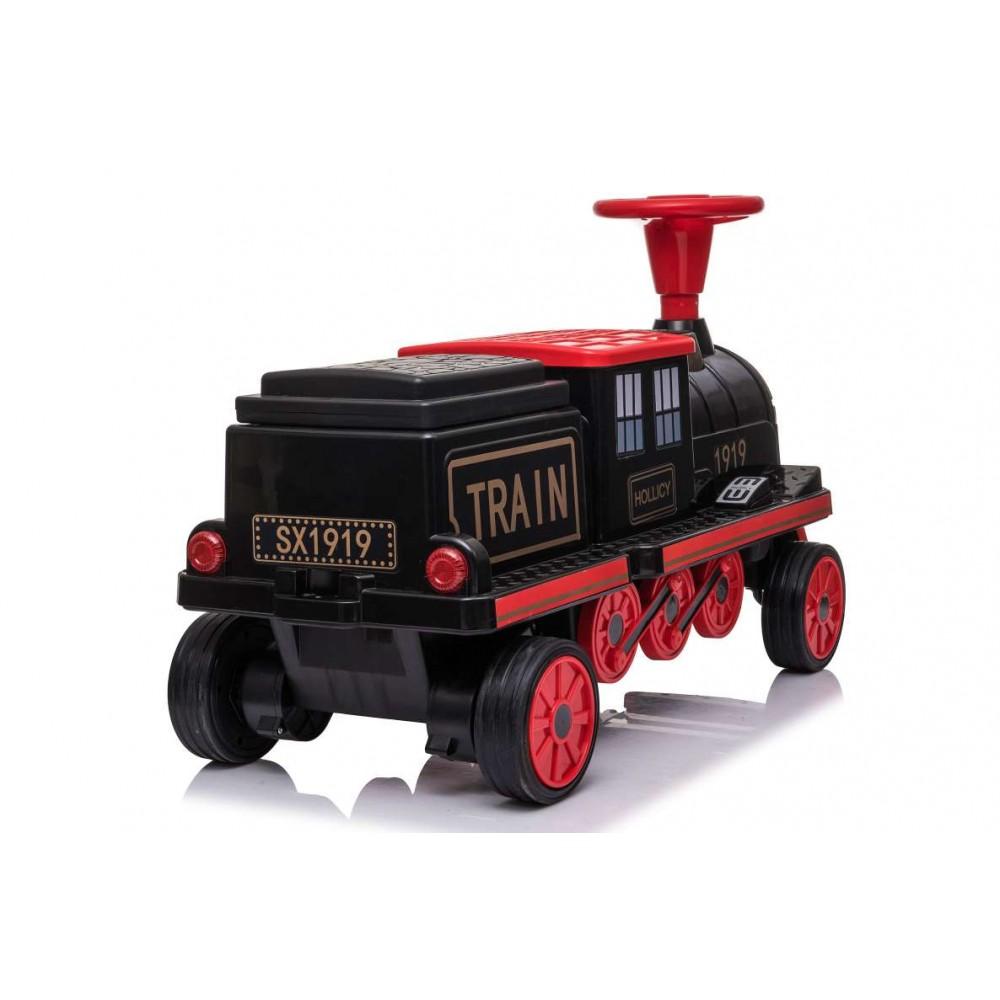 Locomotiva de tren electric pentru copii negru