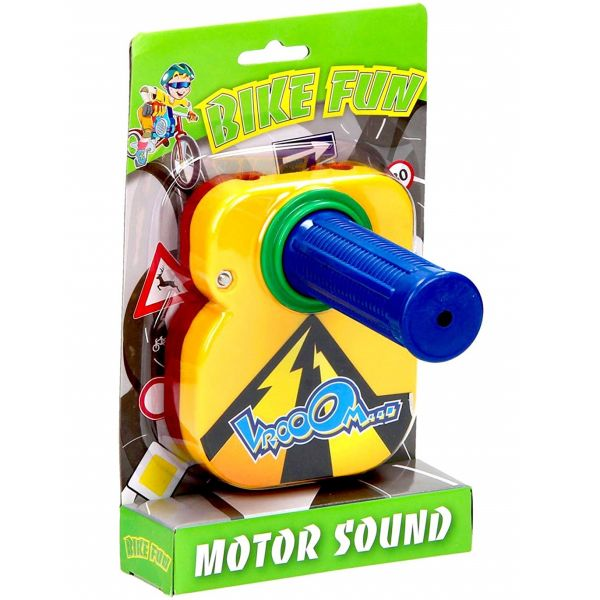 Maner galben pentru bicicleta cu zgomot de motor imagine