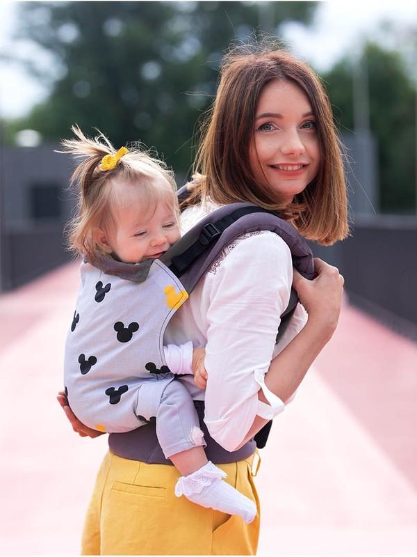 Marsupiu ergonomic cu 2 pozitii de transport Kinder Hop Basic Miki