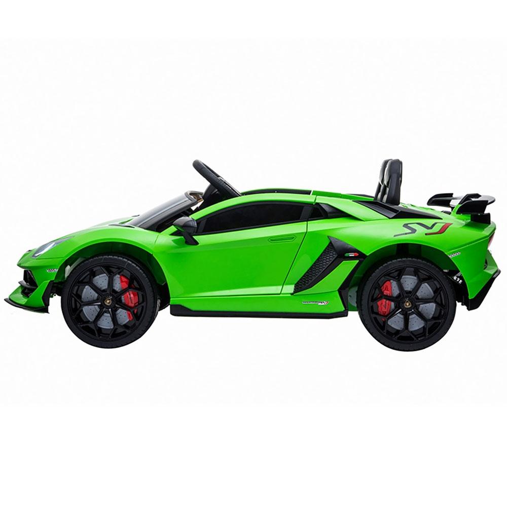 Masinuta electrica Chipolino Lamborghini Aventador SVJ green cu roti Eva - 2