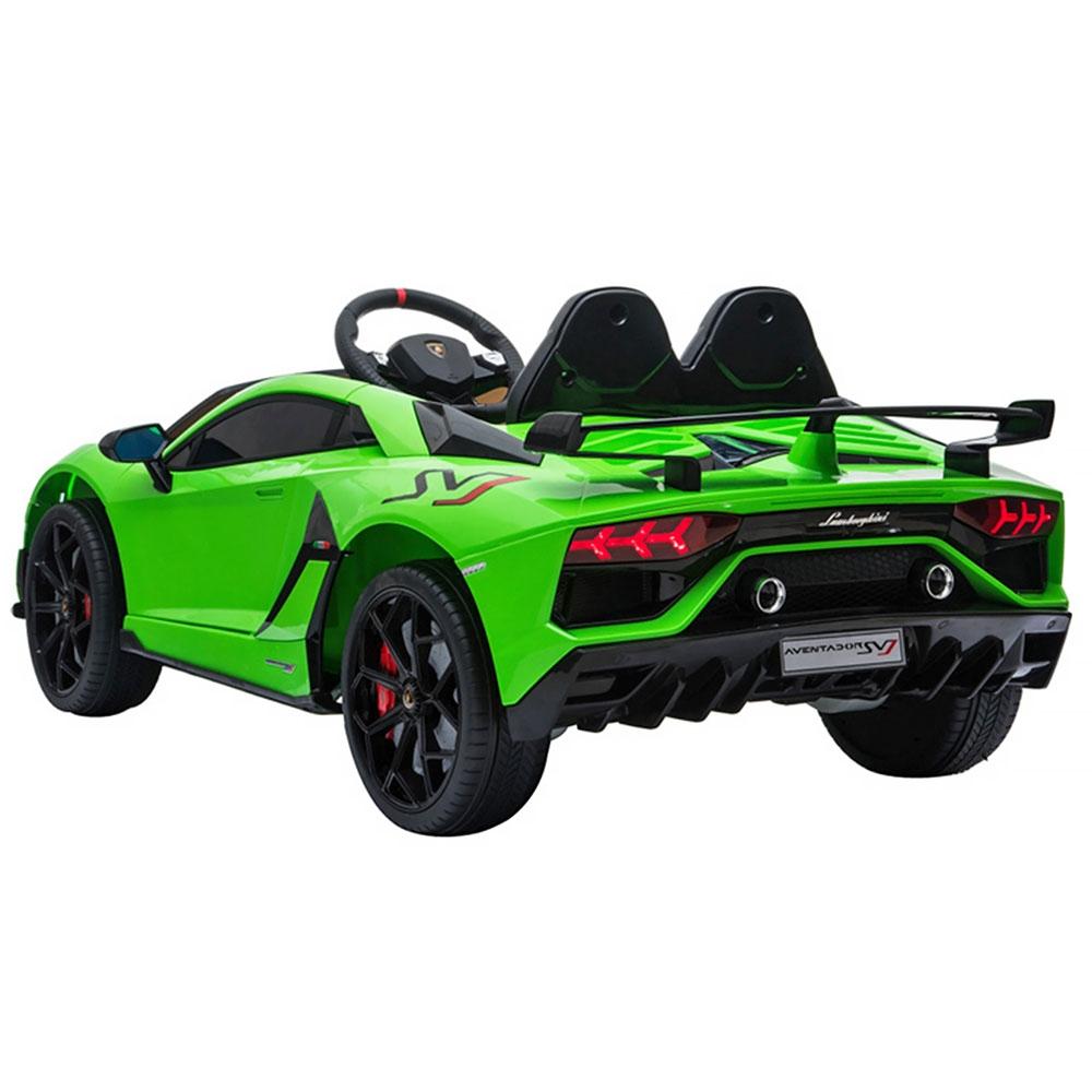 Masinuta electrica Chipolino Lamborghini Aventador SVJ green cu roti Eva - 3