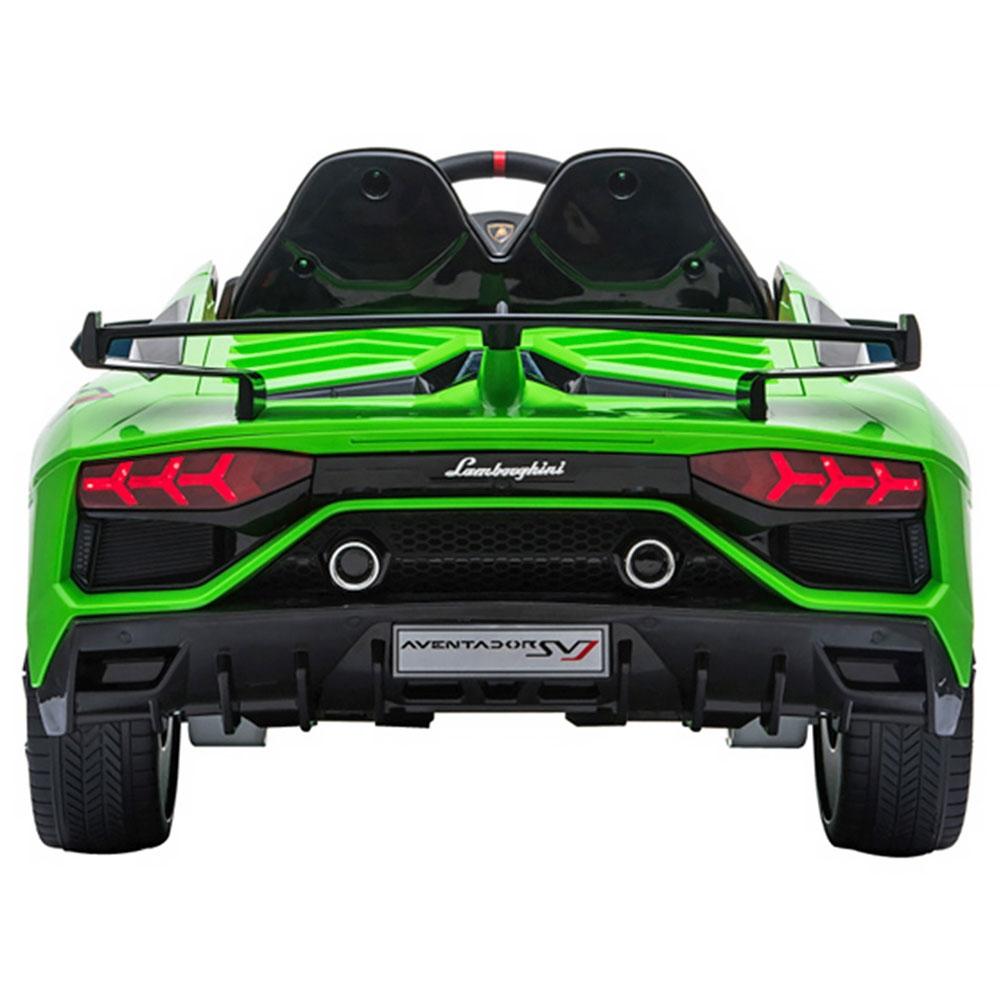 Masinuta electrica Chipolino Lamborghini Aventador SVJ green cu roti Eva - 4