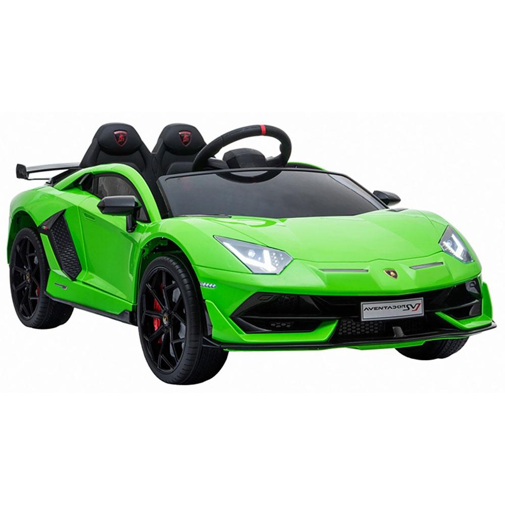 Masinuta electrica Chipolino Lamborghini Aventador SVJ green cu roti Eva - 5