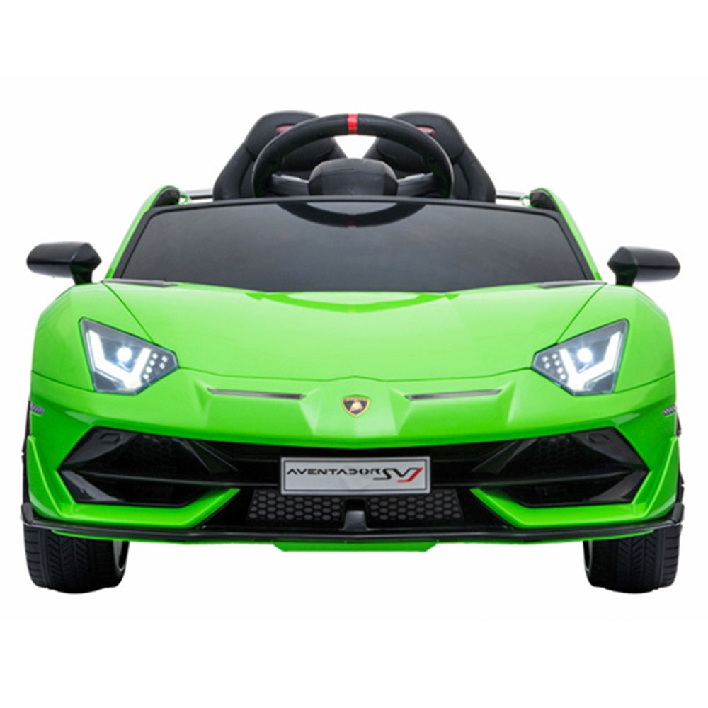 Masinuta electrica Chipolino Lamborghini Aventador SVJ green cu roti Eva - 6