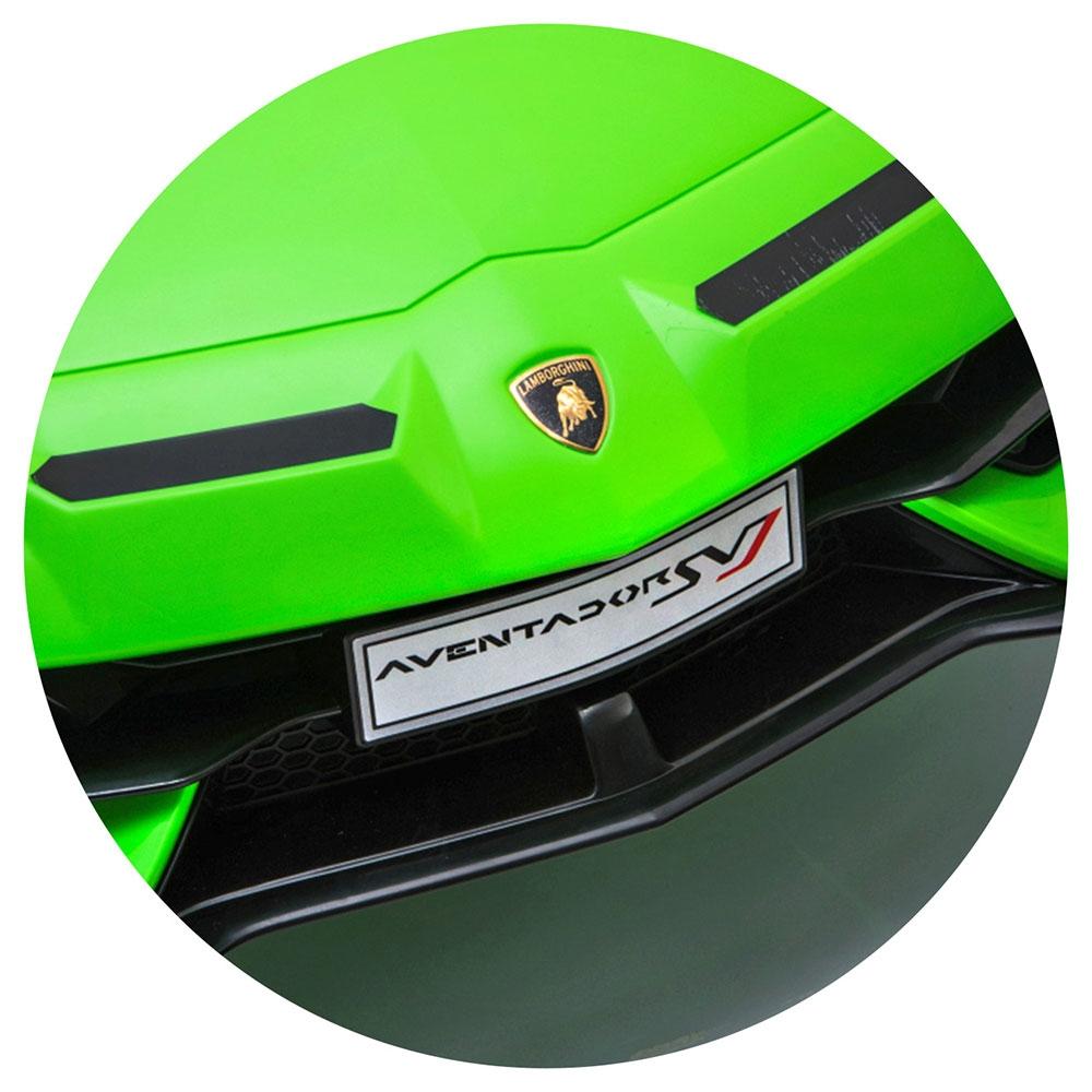 Masinuta electrica Chipolino Lamborghini Aventador SVJ green cu roti Eva - 7