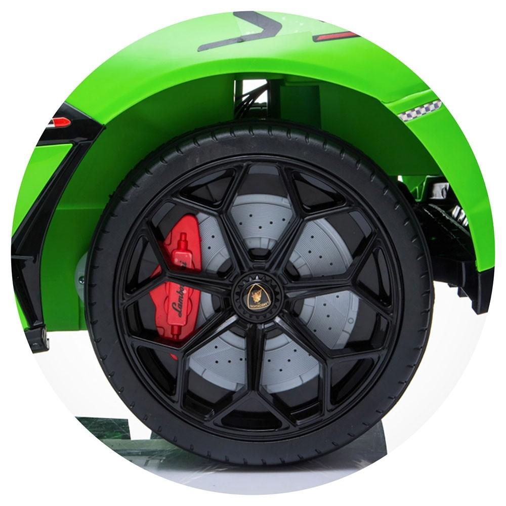 Masinuta electrica Chipolino Lamborghini Aventador SVJ green cu roti Eva - 1