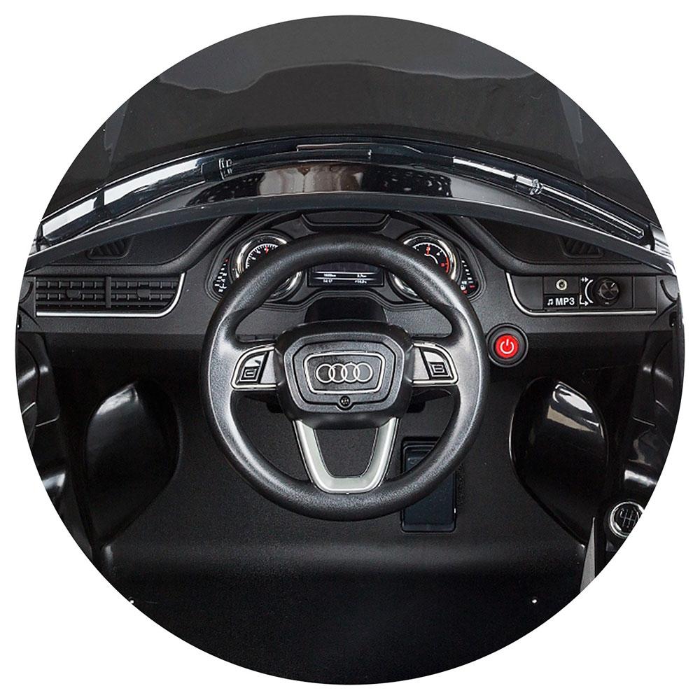 Masinuta electrica Chipolino Suv Audi Q7 black cu roti Eva - 4